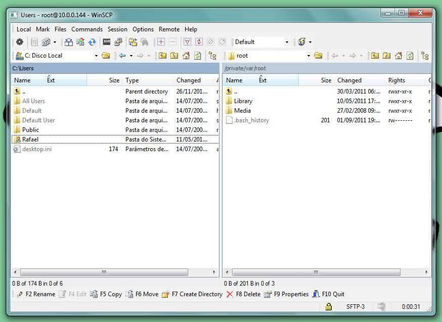 interface winscp